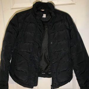 Calvin Klein zip up black puffer jacket